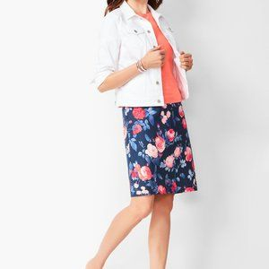 Talbots Floral A-line skirt NWT SIze 12